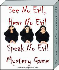 See No Evil Disabilities Awareness Mystery Game Party